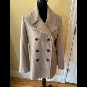 Calvin Klein wool light brown peacoat size 14